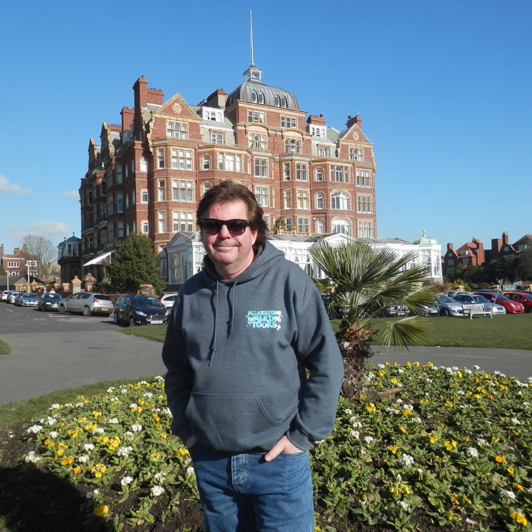 My name is Tony Quarrington and I will be the guide on your walking tour.